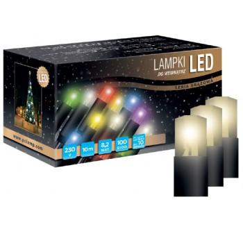 Vánoční LED osvětlení - LED osvětlení vnitřní - klasická, tep. bílá, 10 m