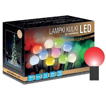 Vánoční LED osvětlení - LED osvětlení vnitřní - koule, červená, 10 m