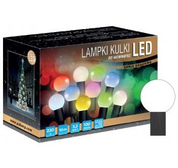 Vánoční LED osvětlení - LED osvětlení vnitřní - koule, st. bílá, 10 m