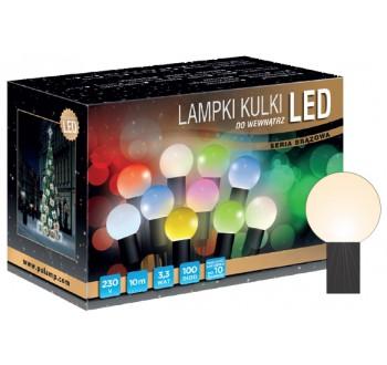 Vánoční LED osvětlení - LED osvětlení vnitřní - koule, tep. bílá, 10 m