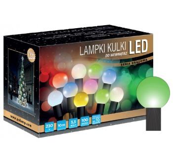 Vánoční LED osvětlení - LED osvětlení vnitřní - koule, zelená 10 m