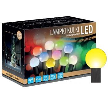 Vánoční LED osvětlení - LED osvětlení vnitřní - koule, žlutá 10 m