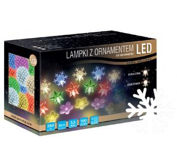 LED osvětlení vnitřní - vločka, st. bílá, 10 m