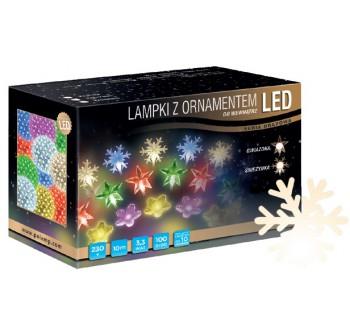 LED osvětlení vnitřní - vločka, tep. bílá, 10 m