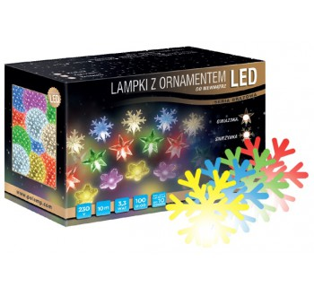 LED osvětlení vnitřní - vločka, multicolor, 10 m