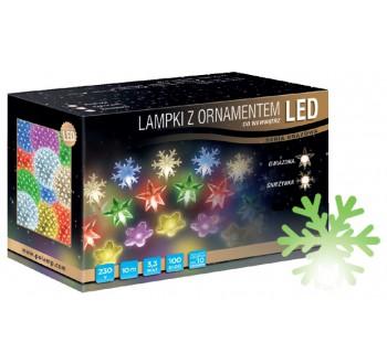 Vánoční LED osvětlení - LED osvětlení vnitřní - vločka, zelená, 10 m