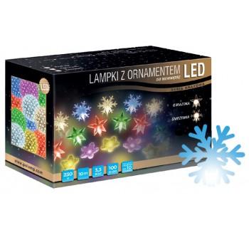 Vánoční LED osvětlení - LED osvětlení vnitřní - vločka, modrá, 10 m