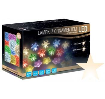 Vánoční LED osvětlení - LED osvětlení vnitřní - hvězda, tep. bílá, 10 m