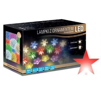 Vánoční LED osvětlení - LED osvětlení vnitřní - hvězda, červená, 10 m
