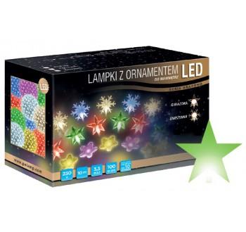 Vánoční LED osvětlení - LED osvětlení vnitřní - hvězda, zelená, 10 m