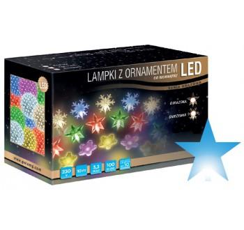 LED osvětlení vnitřní - hvězda, modrá, 10 m