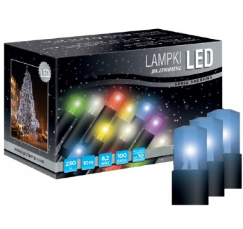 LED osvětlení univerzální - klasická, modrá, 10 m