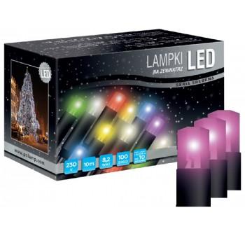 Vánoční LED osvětlení - LED osvětlení univerzální - klasická, růžová, 10 m