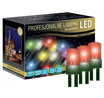 Vánoční LED osvětlení - LED osvětlení venkovní - klasická, červená, 10 m