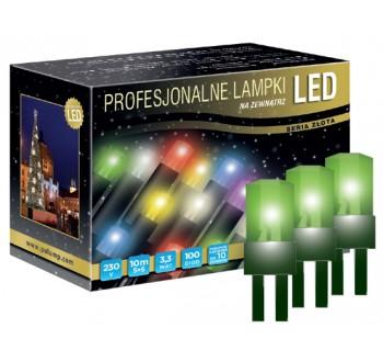 Vánoční LED osvětlení - LED osvětlení venkovní - klasická, zelená, 10 m