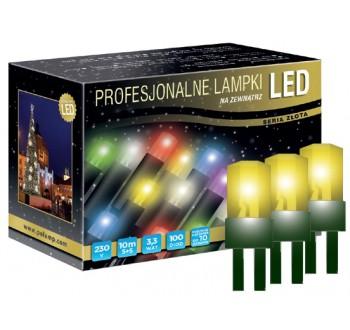 Vánoční LED osvětlení - LED osvětlení venkovní - klasická, žlutá, 10 m