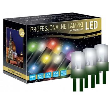 Vánoční LED osvětlení - LED osvětlení venkovní - klasická, st. bílá, 10 m