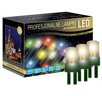Vánoční LED osvětlení - LED osvětlení venkovní - klasická, tep. bílá, 10 m