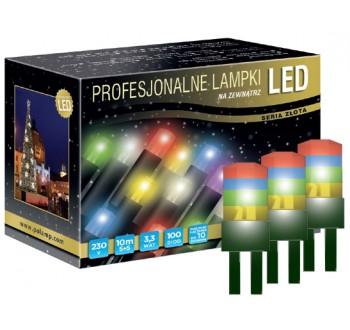 Vánoční LED osvětlení - LED osvětlení venkovní - klasická, RGB, 10 m