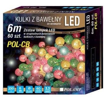 LED osvětlení vnitřní - bavlna, multicolor, 6 m