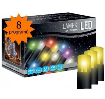 Vánoční LED osvětlení - LED osvětlení univerzální - klasická, žlutá, 10 m, programátor