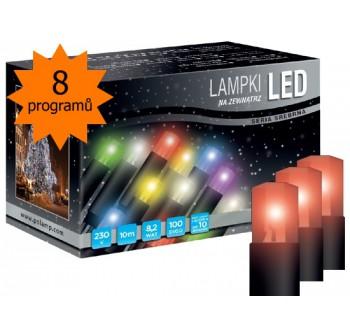 Vánoční LED osvětlení - LED osvětlení univerzální - klasická, červená 10 m, programátor