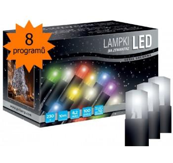 LED osvětlení univerzální - klasická, st. bílá 10 m, programátor
