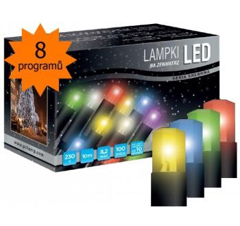 Vánoční LED osvětlení - LED osvětlení univerzální - klasická, multicolor, 10 m, programátor