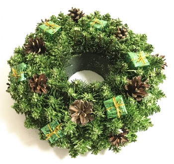 Girlandy a věnce - Vánoční dekorace - Věnec zelený