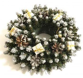 Girlandy a věnce - Vánoční dekorace - Věnec stříbrný