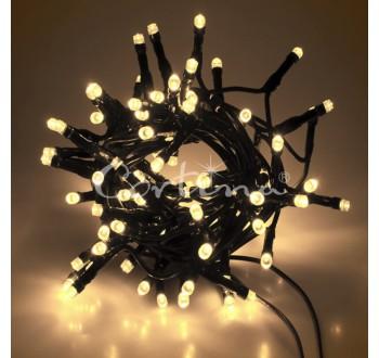 Vánoční LED osvětlení - LED osvětlení vnitřní - klasická, tep. bílá, 5 m