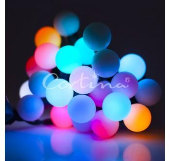 Vánoční LED osvětlení - LED osvětlení vnitřní - koule multicolor, 7 m