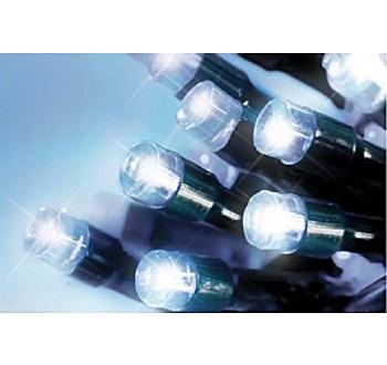 LED osvětlení venkovní - klasická, st. bílá 20 m, časovač, ovladač