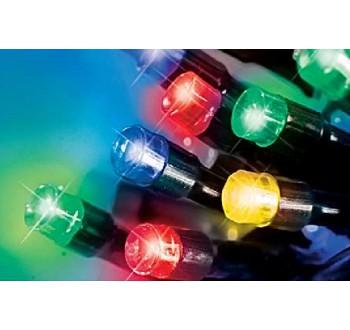 LED osvětlení venkovní - klasická, multicolor 20 m, časovač, ovladač