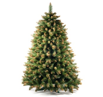 Zrušené produkty - Umělý vánoční stromek - Borovice zlatá 120 cm