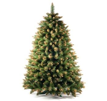 Zrušené produkty - Umělý vánoční stromek - Borovice zlatá 220 cm