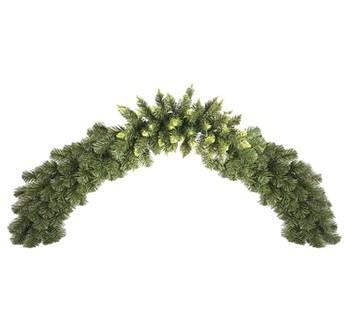Girlandy a věnce - Vánoční dekorace - girlanda zelená 150 cm