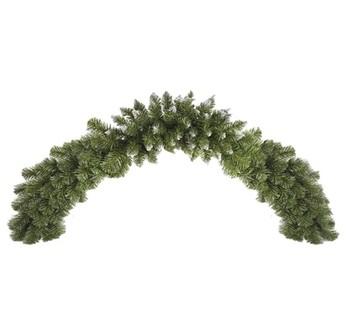 Girlandy a věnce - Vánoční dekorace - girlanda stříbrná 150 cm