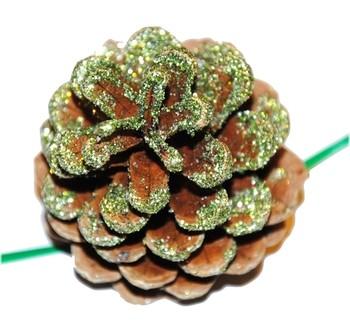 Šišky - Vánoční dekorace - Borovicová šiška zelená