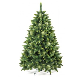 Borovice - zdobená - Umělá vánoční borovice s šiškami - zelená 120 cm