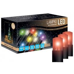 LED osvětlení vnitřní - klasická, červená, 10 m