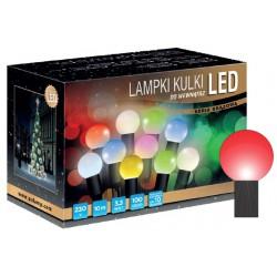 LED osvětlení vnitřní - koule, červená, 10 m
