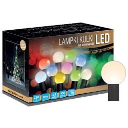 LED osvětlení vnitřní - koule, tep. bílá, 10 m