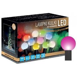 LED osvětlení vnitřní - koule, fialová, 10 m