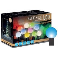 LED osvětlení vnitřní - koule, modrá 10 m