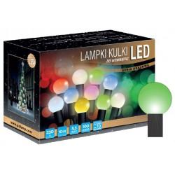 LED osvětlení vnitřní - koule, zelená 10 m