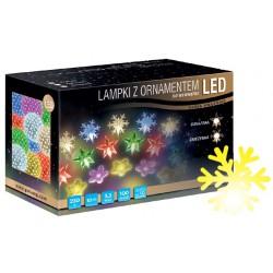 LED osvětlení vnitřní - vločka, žlutá, 10 m