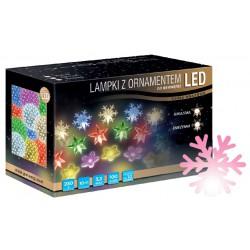 LED osvětlení vnitřní - vločka, růžová, 10 m