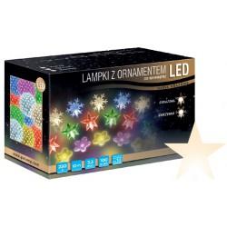 LED osvětlení vnitřní - hvězda, tep. bílá, 10 m