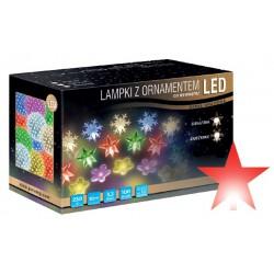LED osvětlení vnitřní - hvězda, červená, 10 m